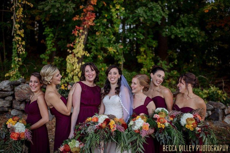 Bridesmaids - destination Sturbridge wedding