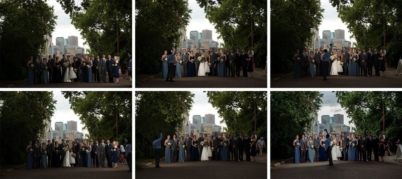 flash composite example at wedding