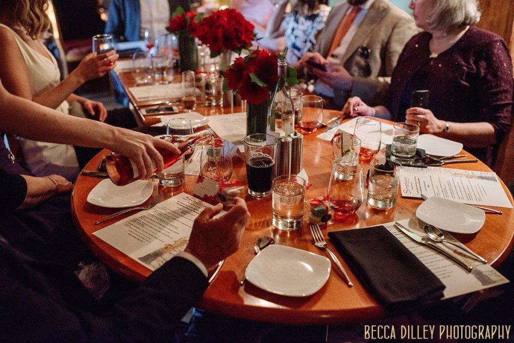 Wine paired dinner