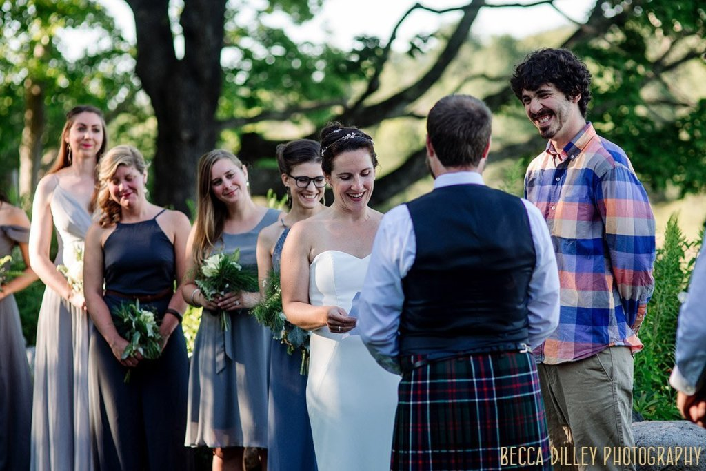 destination wedding by Acadia National Park in Maine