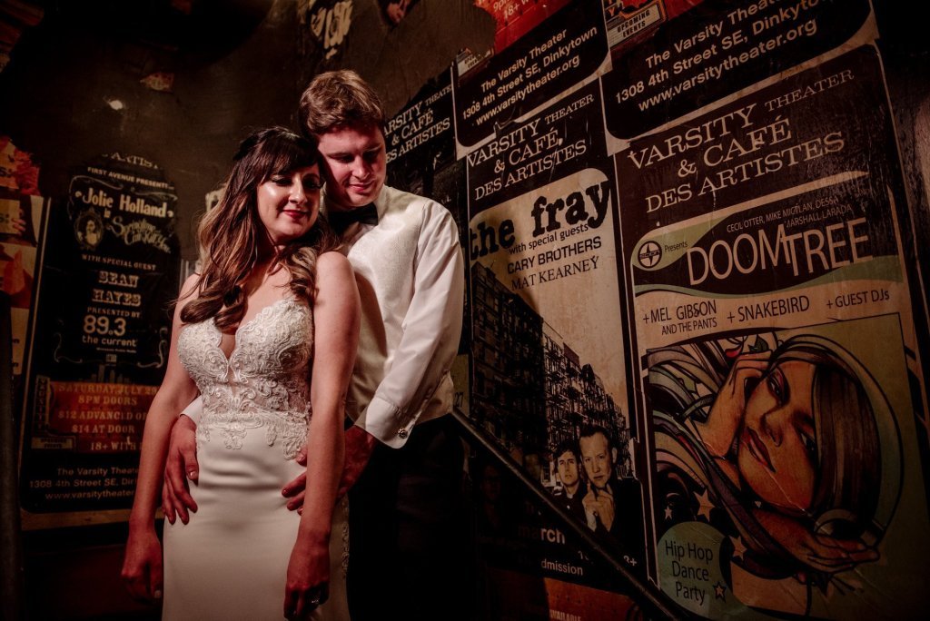 couple varsity theater wedding minneapolis