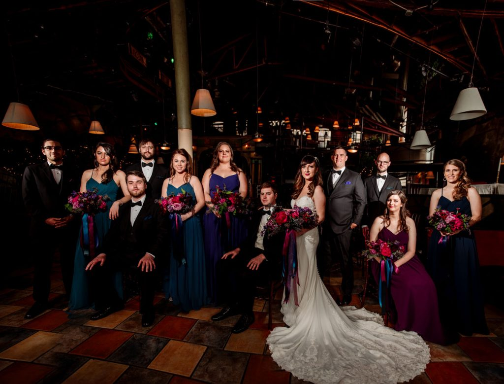 flash composite wedding party photo minneapolis