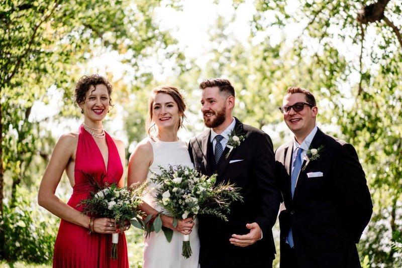 wedding ceremony at glueks park northeast minneapolis summer day