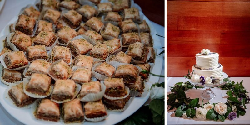 wedding cake and baklava for silverwood park wedding mn