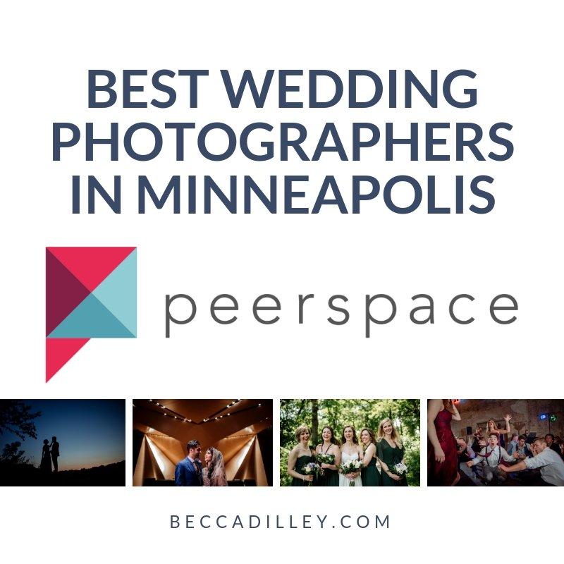 badge - awarded among best wedding photographers in minneapolis by peerspace