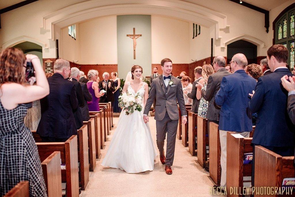 walking down the aisle in a formal church minneapolis