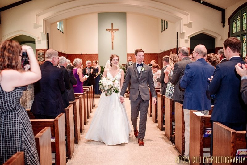 walking down the aisle in a formal church minneapolis