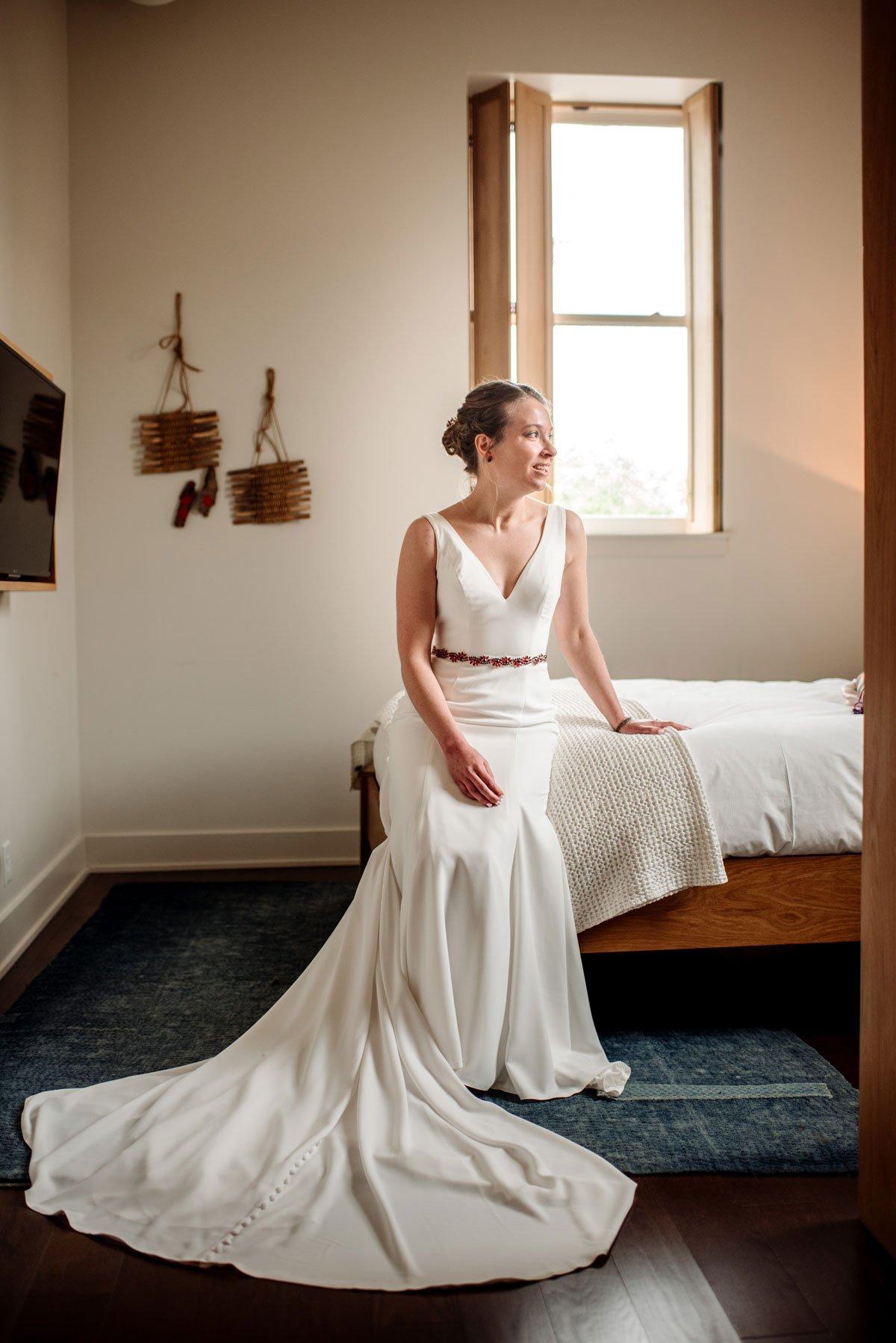 bride at hotel alma