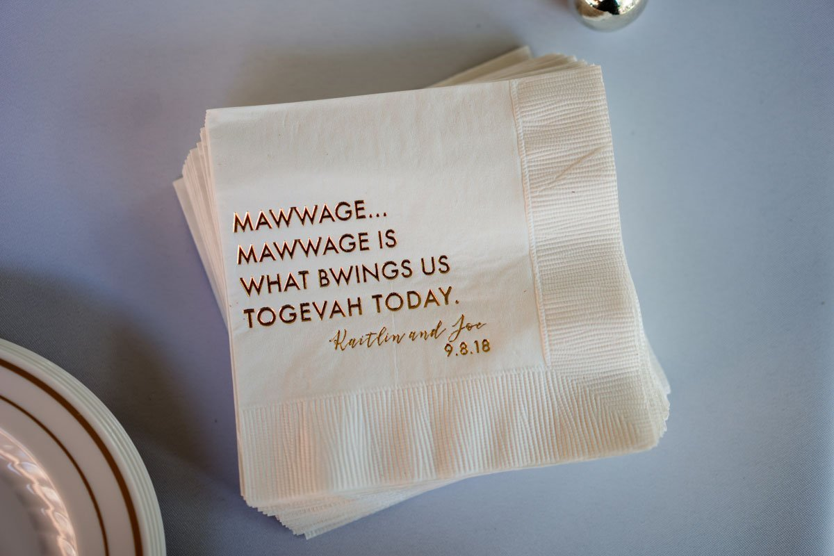 funny napkins with quote from princess bride voyageur wedding environmental center mn