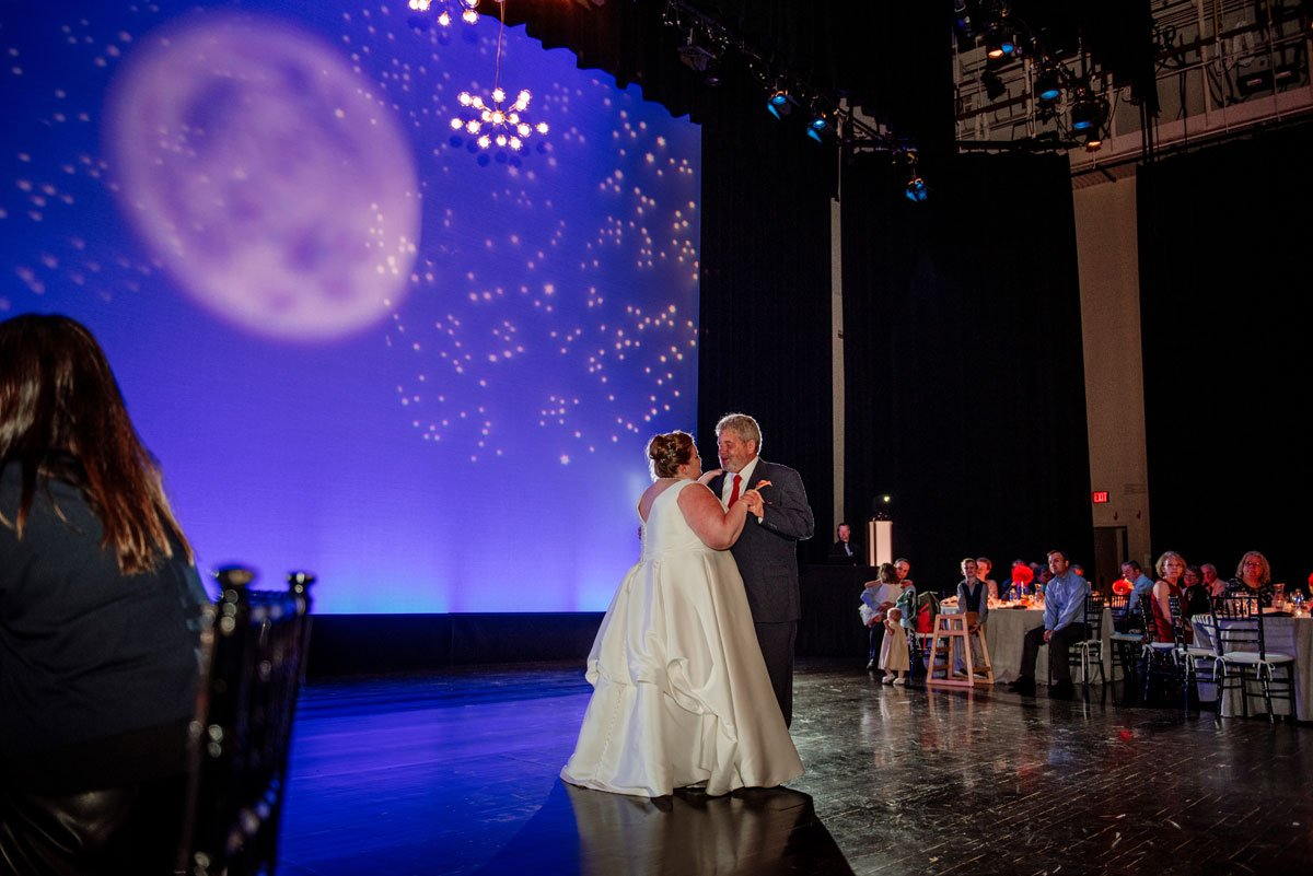 bride and father share dance together washington pavilion wedding sioux falls