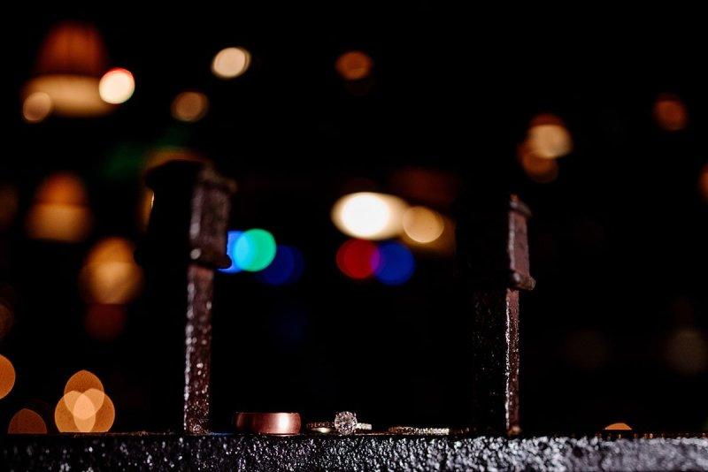 wedding rings on iron details of loring restaurant minneapolis