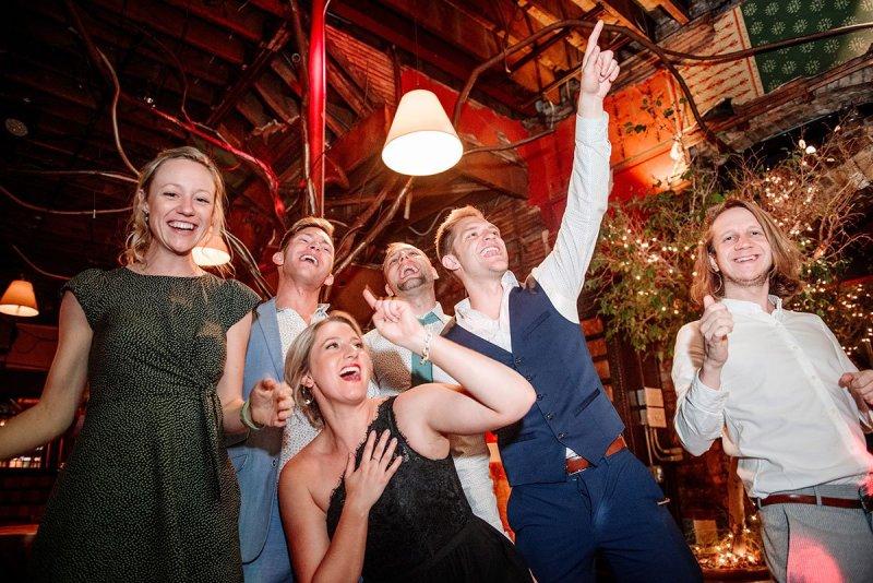 dancing at loring restaurant wedding