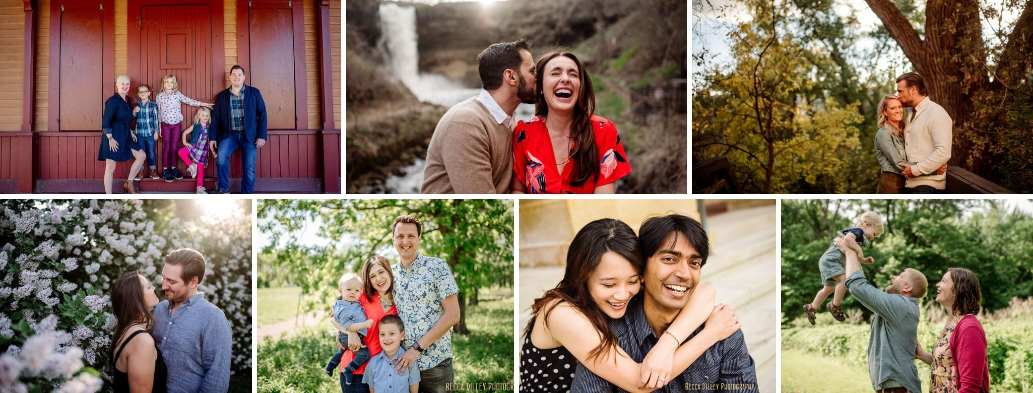 header image of family and couple portraits in Minneapolis area