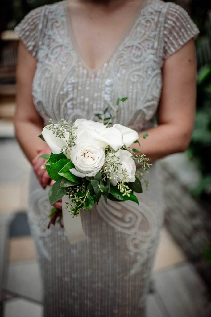 bridal bouquet for small wedding at Como Conservatory