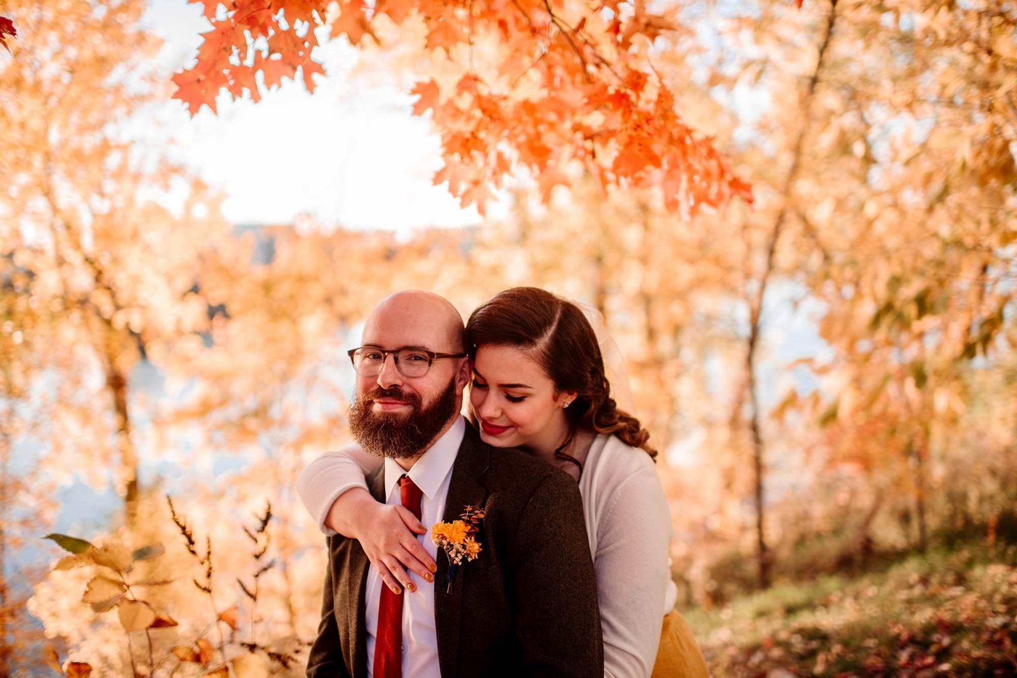 fall in minneapolis for this bride and grooms elopement