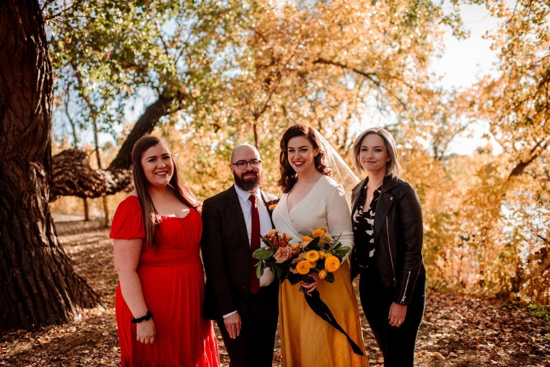 small wedding party for covid elopement