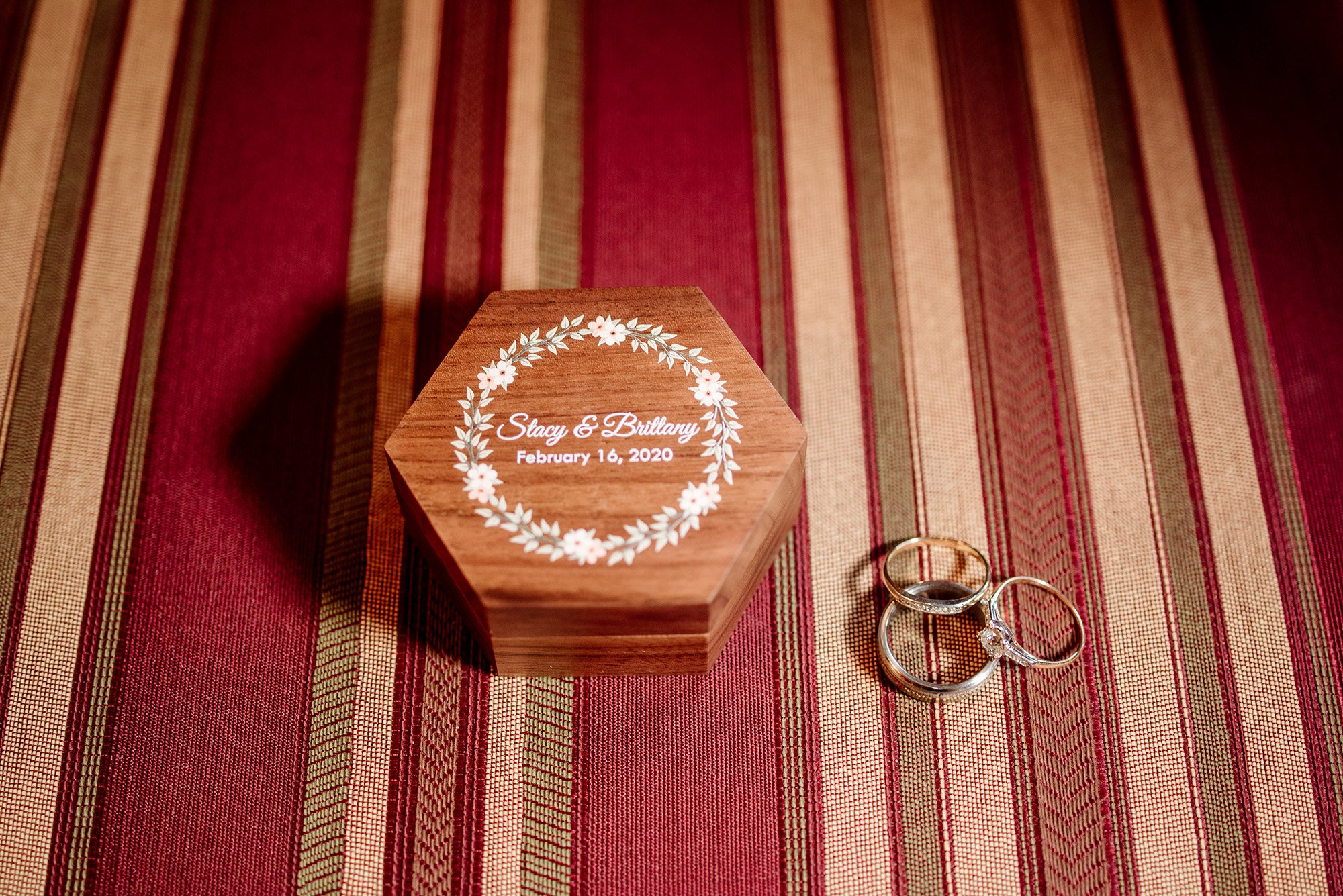 wedding rings and custom box st paul college club wedding mn lgbtq photographer