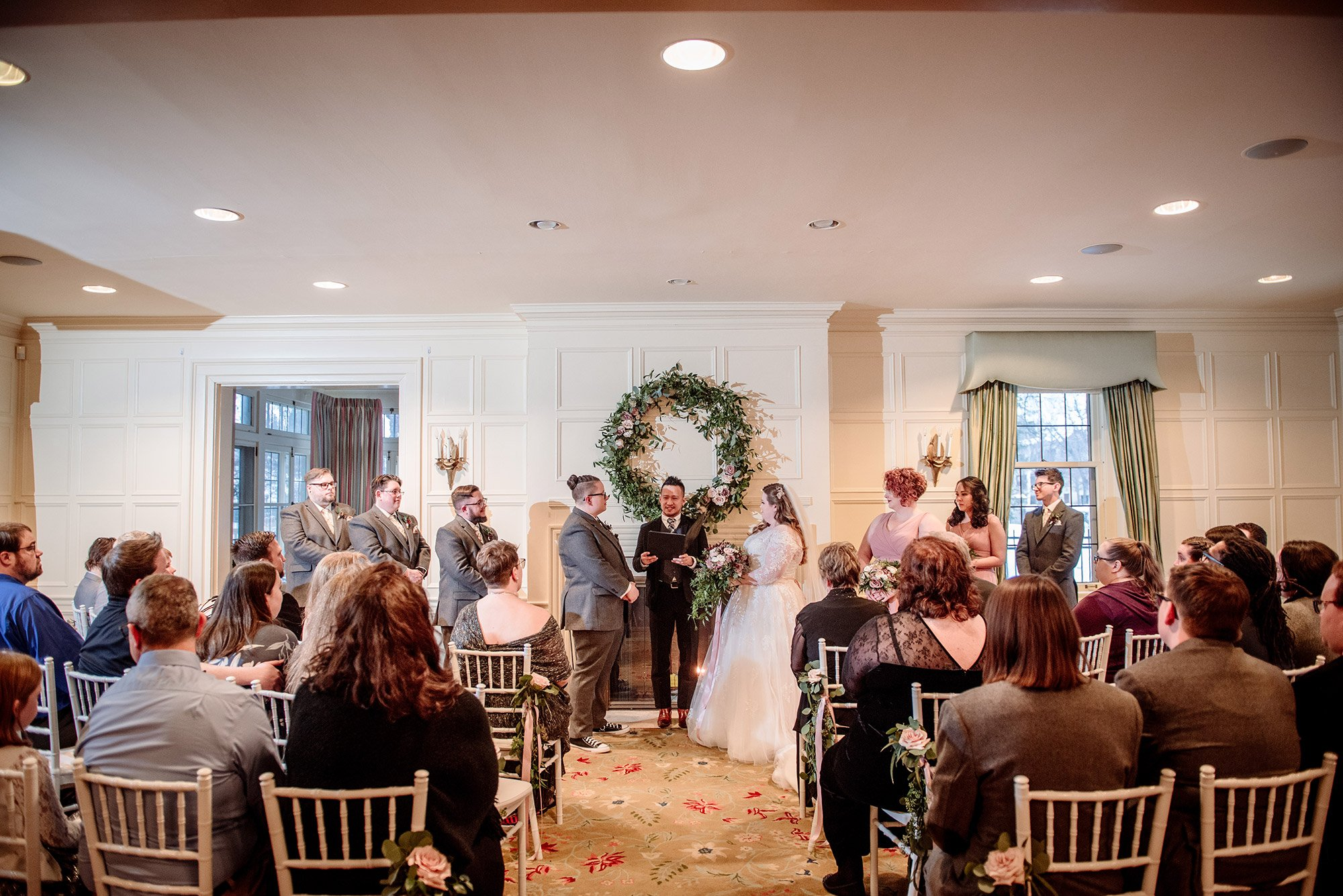 indoor wedding ceremony st paul college club wedding mn