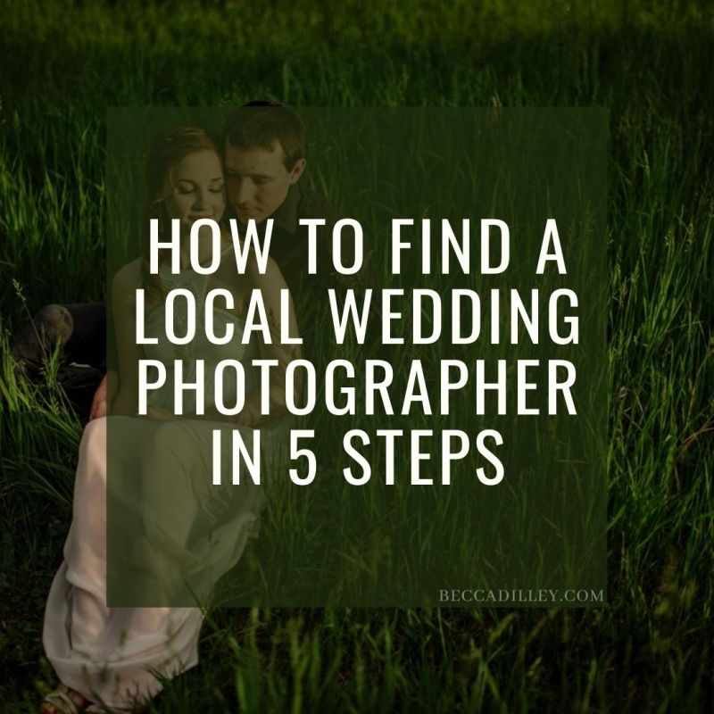 for to find a local photographer in 5 steps
