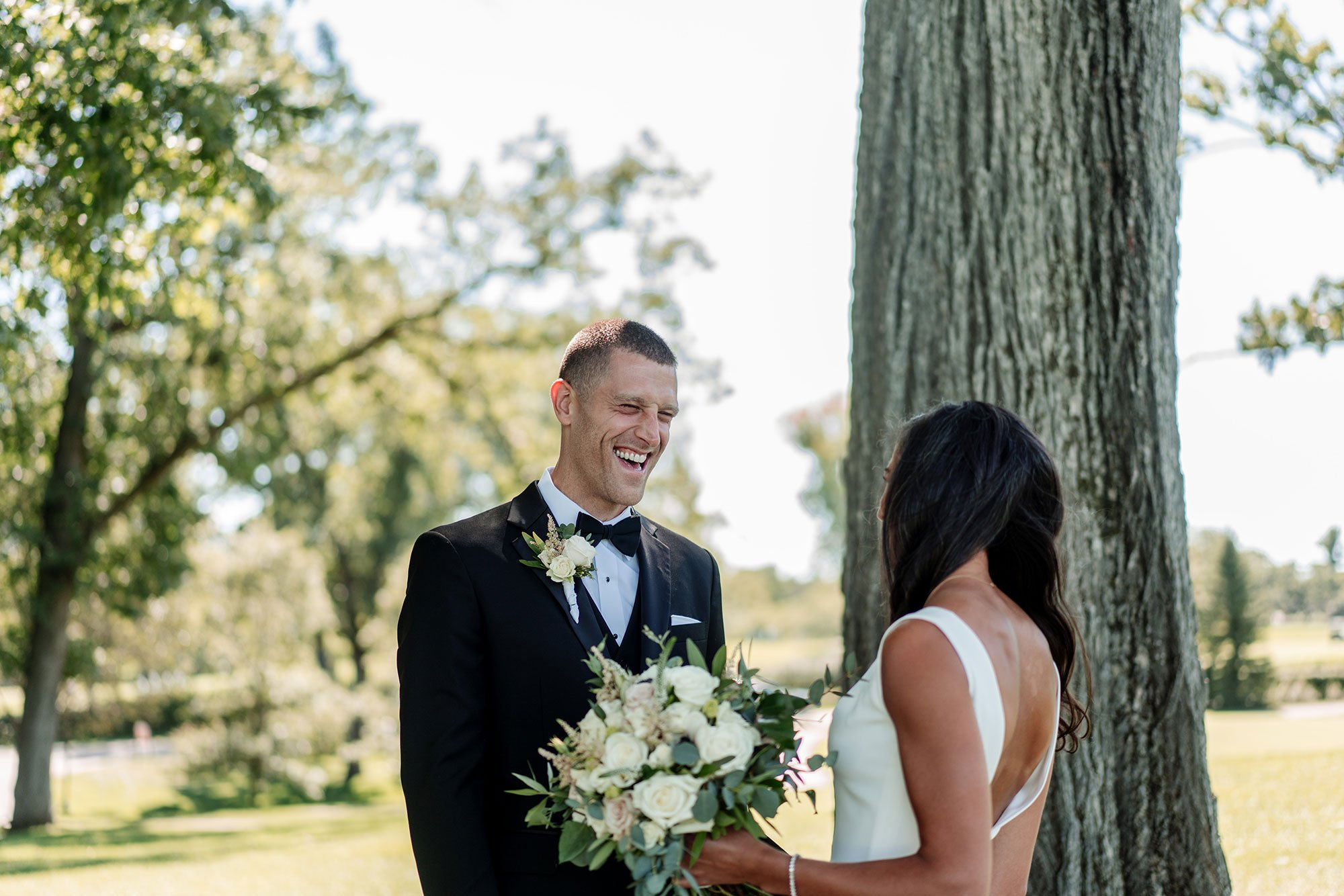groom sees bride for first time interlachen country club mn