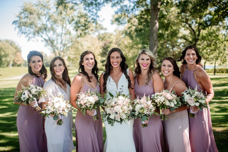 bridesmaids at interlachen country club