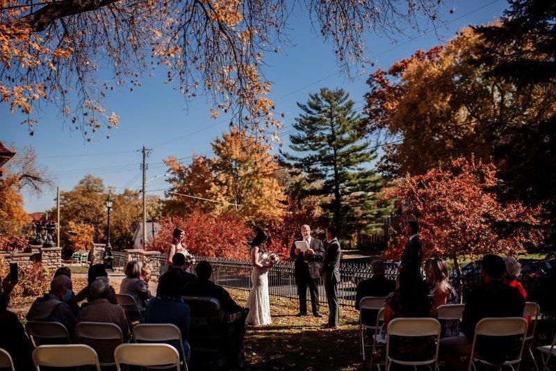 stillwater rivertown inn wedding ceremony
