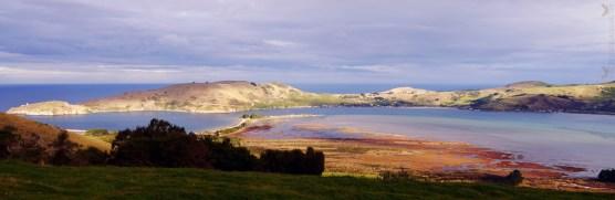 View of Aramoana from Heywood Point, Dunedin, New Zealand.