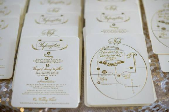 Old Hollywood Era Wedding Invitation Suite Info Card & Map