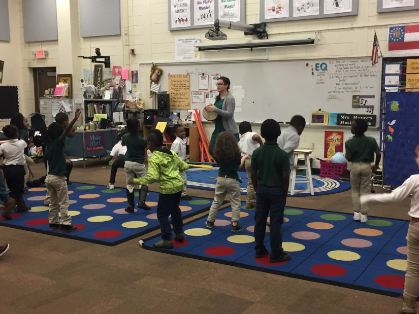 Becca's Music Room Elementary music hand drum movement lesson. Kindergarten, 1st grade, and 2nd grade. Elementary music.
