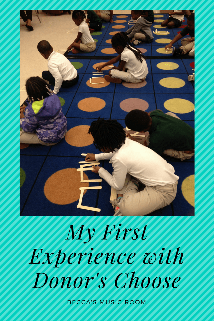 My First Experience with Donor's Choose. Beck's Music Room. A how to get things with donor's choose blog post. elementary music.