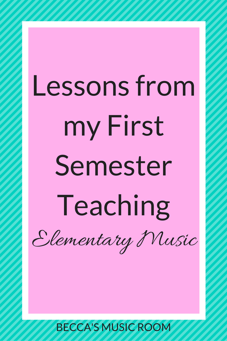 Lessons from my First Semester Teaching Elementary Music. The first few months have been fun and eventful! Check out what I learned, and hopefully something will help you! Becca's Music Room.