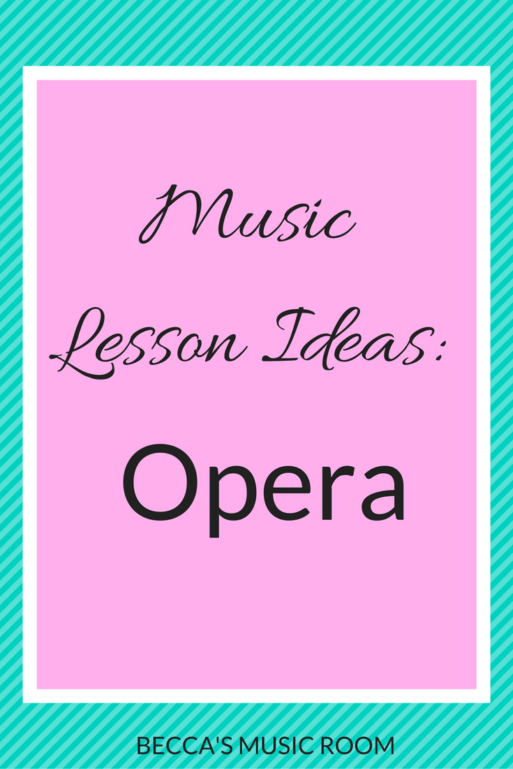 Music Lesson Ideas: Opera. Becca's Music Room. Great ideas and resources for ideas to teach kids about opera or any style of music! including scarves, writing across the curriculum ideas, videos, movement, etc. Great for any elementary music class.