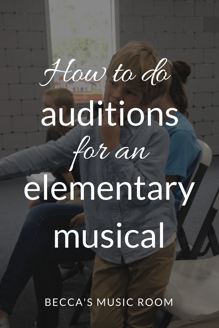 How to do Auditions for an Elementary Musical. If you are having a musical, you NEED to hold auditions. Find out why and how here! Becca's Music Room.