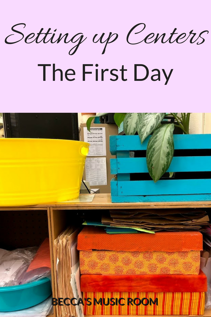 Setting up Centers: The first day. How do you get started on the first day of centers or workstations in the music room? Here are some ideas to destress you centers time and help your students understand the routine. Becca's Music Room.