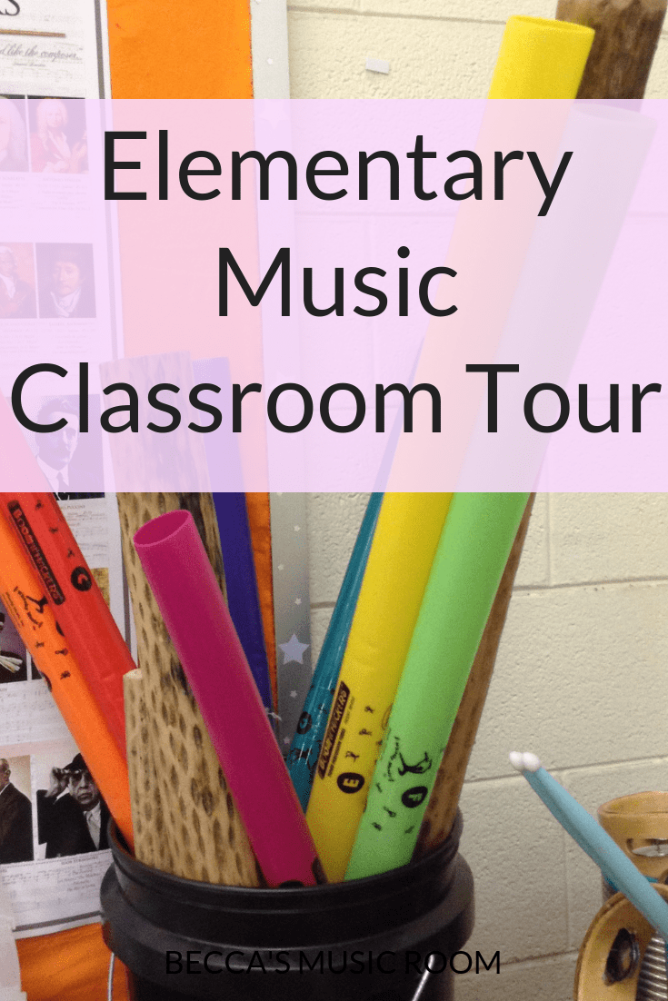 Elementary Music Classroom Tour. Simple storage and organization from an elementary music teacher-- everything is cheap and easy to do! Becca's Music Room.