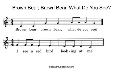 Brown Bear, Brown Bear, What Do You See? as a song! Becca's Music Room