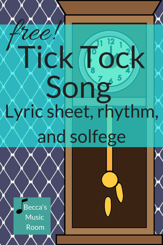 This is a powerpoint to go along with the song Tick Tick. It has the song lyrics, lyrics and rhythm (in regular notation and stick notation!), and rhythm and solfege. Becca's Music Room.