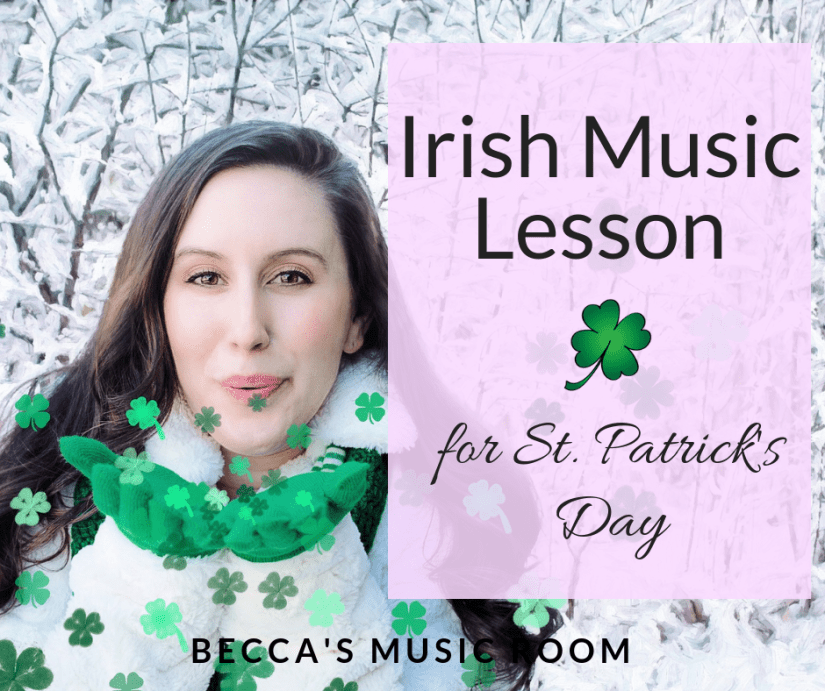 Looking for something fun to do in your elementary music class for St. Patrick's Day? Look no further! This lesson includes two different Irish folk songs for students to sing, do movement activities to, and learn more about Ireland. You can use this general music lesson with kindergarten, first grade, second grade, or third grade. Becca's Music Room