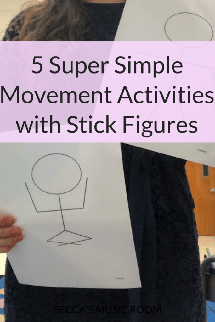 Looking for a super simple movement activity for your elementary music room? Whether you need a warm up, a time suck, or to just wake the students up, these 5 movement activities with stick figures are the way to go. They are easy, require almost no prep, and the kids LOVE them. Becca's Music Room