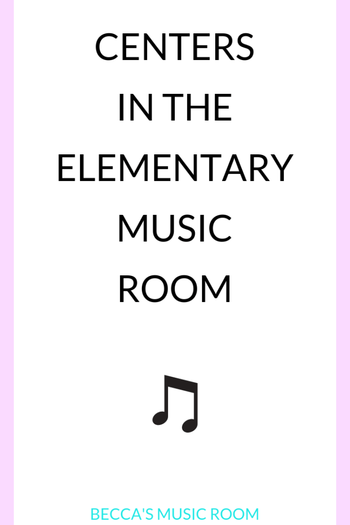 Want to try centers in elementary music and not sure where to start? This post includes all of the things to think about before starting centers-- so that you can have centers in a meaningful and successful way! Becca's Music Room