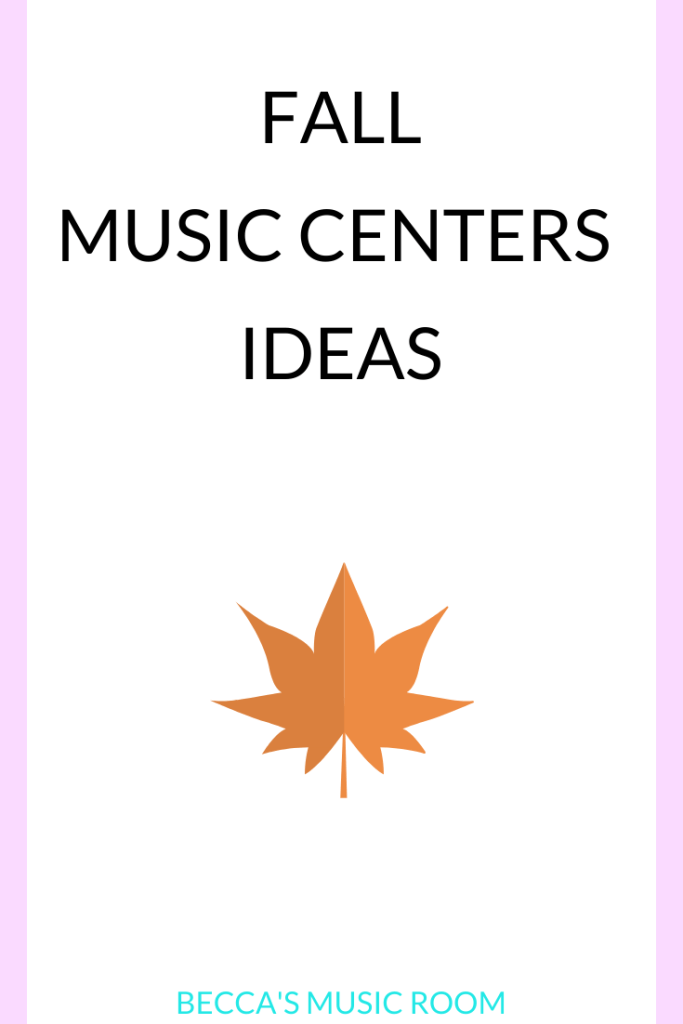 Fall music centers ideas for the elementary music class. This post has engaging centers activities for a variety of grades K-5 that are all fall themed! I it the perfect way to add some pizzaz to your lessons, and they all have easy set up! Becca's Music Room