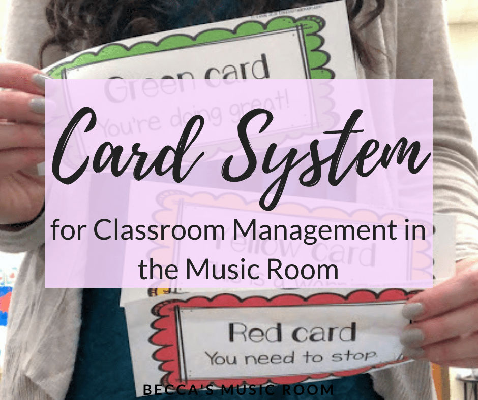 Card System for Classroom Management + FREE DOWNLOAD | This classroom managemnt system has been so incredibly helpful in my elementary music classroom! It is easy, effective, annnnd you can get the only tools you need for free! Becca's Music Room