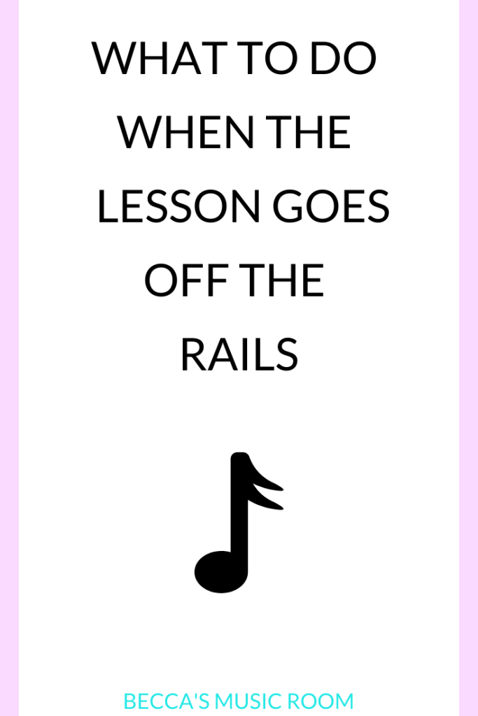 What to Do when the Lesson Goes off the rails part 1-- Despite a teacher's best effort, students are still not always going to respond to any particular lesson the way they should. So what do you do when the lesson plan is just. not. working? Here are a few tips to help you be a PROACTIVE teacher instead of a reactive teacher. These tips will help you stay ahead of the game and give your students the best-- even if it is not what you intended. Behavior management in the music room. Elementary music. Becca's Music Room