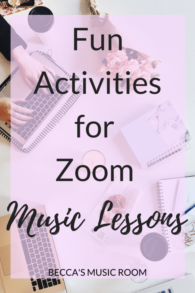 FUN IDEAS FOR ZOOM MUSIC LESSONS FOR DISTANCE LEARNING Distance learning is new-- and trying to figure out how to teach elementary music over Zoom or other video conferencing software has been a challenge. Here, I have compiled a list of FUN activities that you can do with elementary music students via video lessons. Becca's Music Room