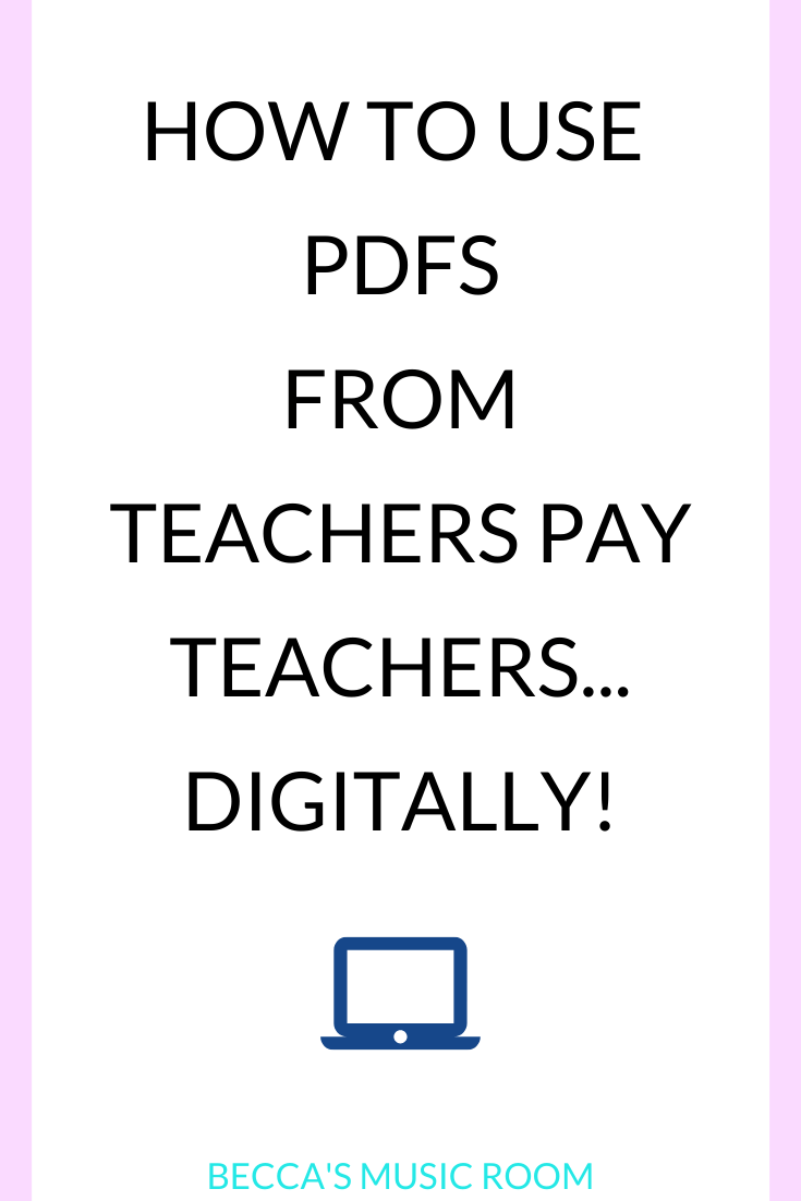 Want to use all of the PDFs you've purchased on Teachers Pay Teachers digitally? You can now assign TPT activities on Google Classroom! This is perfect for using less paper in elementary music. Becca's Music Room