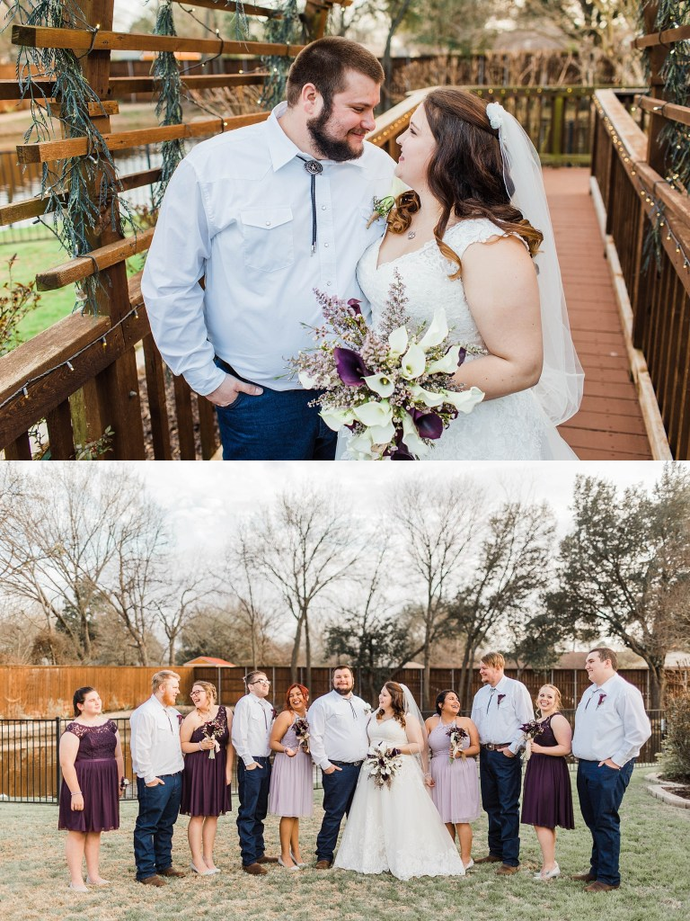 Purple and Silver Rustic Wedding (Garland, Texas) | Becca Sue Photography - www.beccasuephotography.com