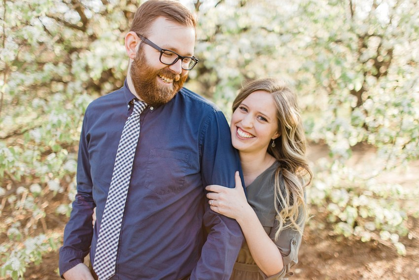 White Blossoms Engagement Session (Euless, Texas)