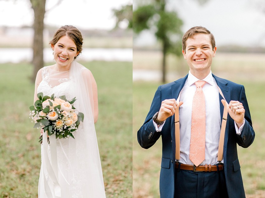 Peach and Sage Spring Wedding (Axtell, Texas) | Becca Sue Photography - www.beccasuephotography.com