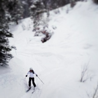 Skiing a perfect powder day in Vail