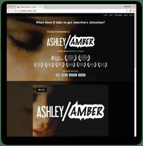 screenshot of ashley-amber.com